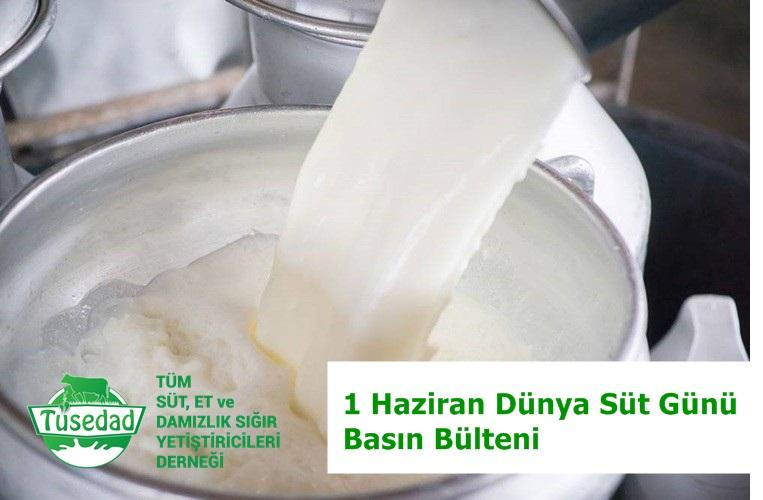 BASIN BÜLTENİ : Çiftçilerimiz Dünya Süt Gününü Kutlayamıyor