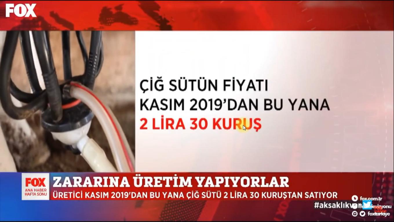 SÜT ÜRETİCİSİ ZARARINA ÜRETİM YAPIYOR !!! FOX ANA HABER 18 EKİM 2020