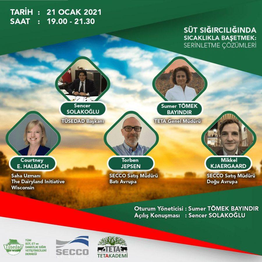 TÜSEDAD-TETA AKADEMİ/SÜT SIĞIRCILIĞINDA SICAKLIKLA BAŞ ETMEK EĞİTİM SEMİNERİ 21.01.2021