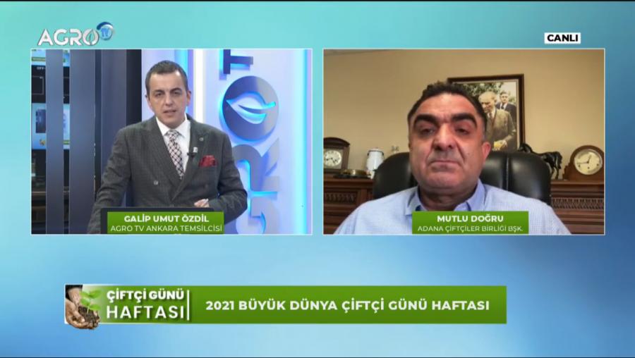 ADANA ÇİFTÇİLER BİRLİĞİ BAŞKANI VE TÜSEDAD ÜYESİ MUTLU DOĞRU, BUĞDAY FİYATLARI VE MALİYETLERİ ÜZERİNE DEĞERLENDİRMELERİ-AGRO TV 10.05.2021